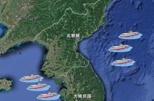 朝鮮半島周辺に集結した6隻の空母