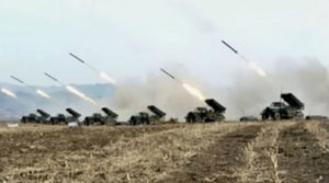 北朝鮮のロケット砲部隊