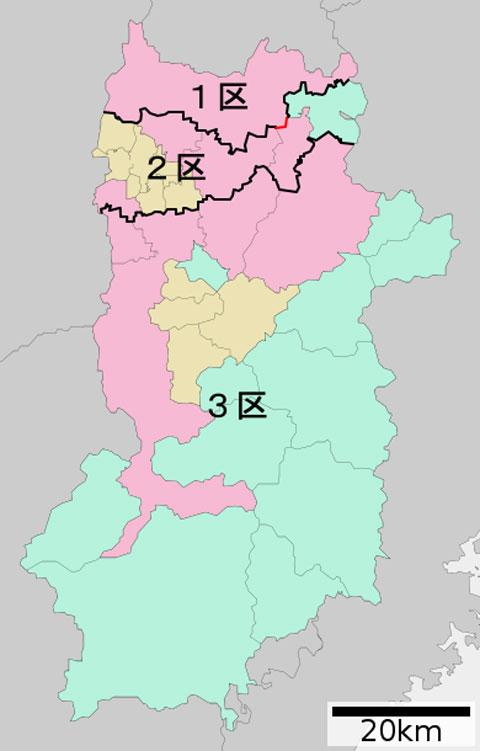 衆議院選挙奈良選挙区の区割り
