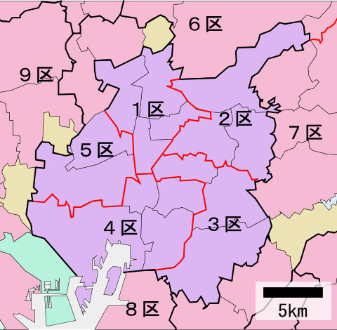 衆議院選挙愛知選挙区名古屋周辺
