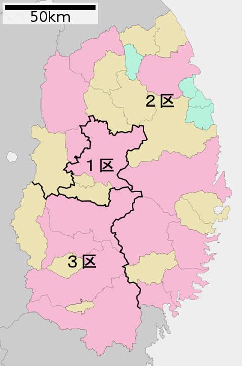 岩手県の選挙区