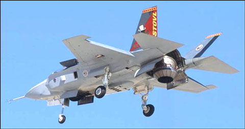 F-35Bの着陸