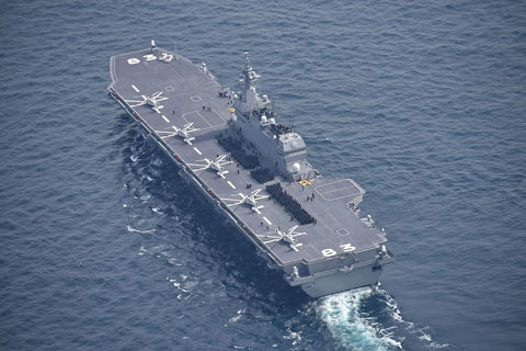 海自ヘリ空母いずも