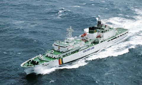 韓国海上警察の5000トン級警備救難艦「5001 参峰号(サンボンギョ」