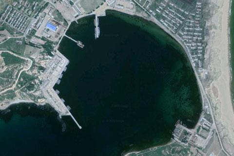 北朝鮮海軍三湖基地