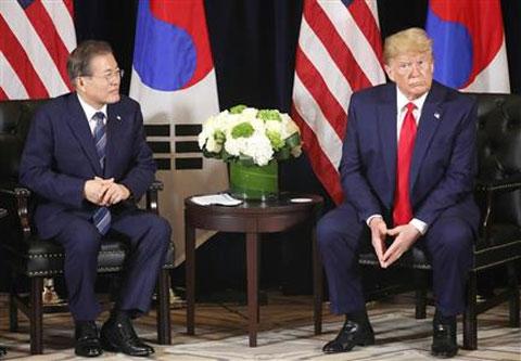 トランプ大統領と文大統領