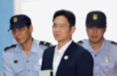 逮捕される財閥首脳
