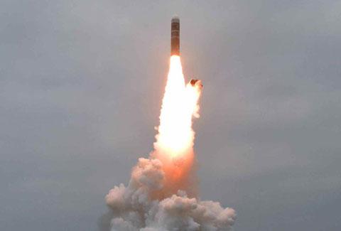 北朝鮮が発射した北極星3号
