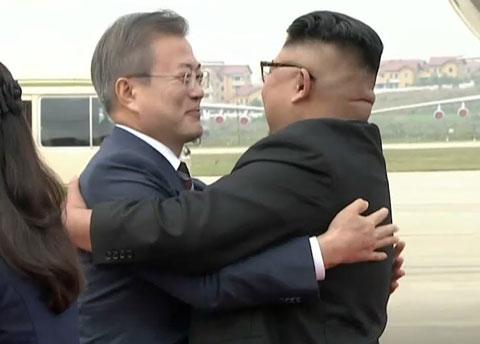 文大統領と金正恩